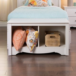 The Gray Barn Waggoner White Twin Cubby Bench