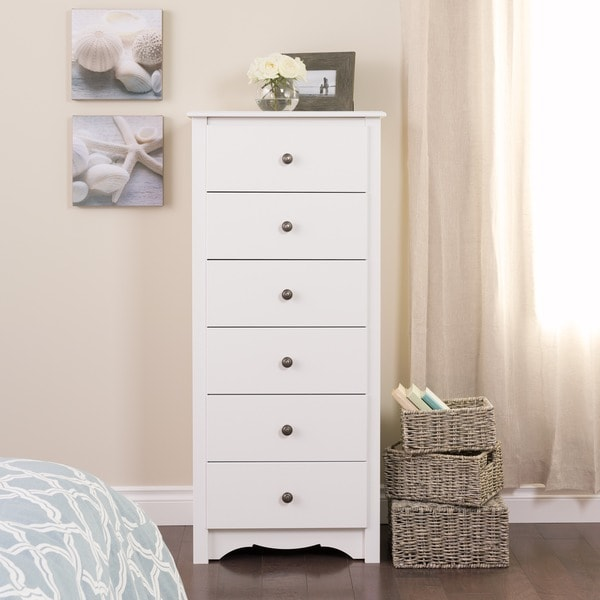 Winslow White 6-drawer Lingerie Chest