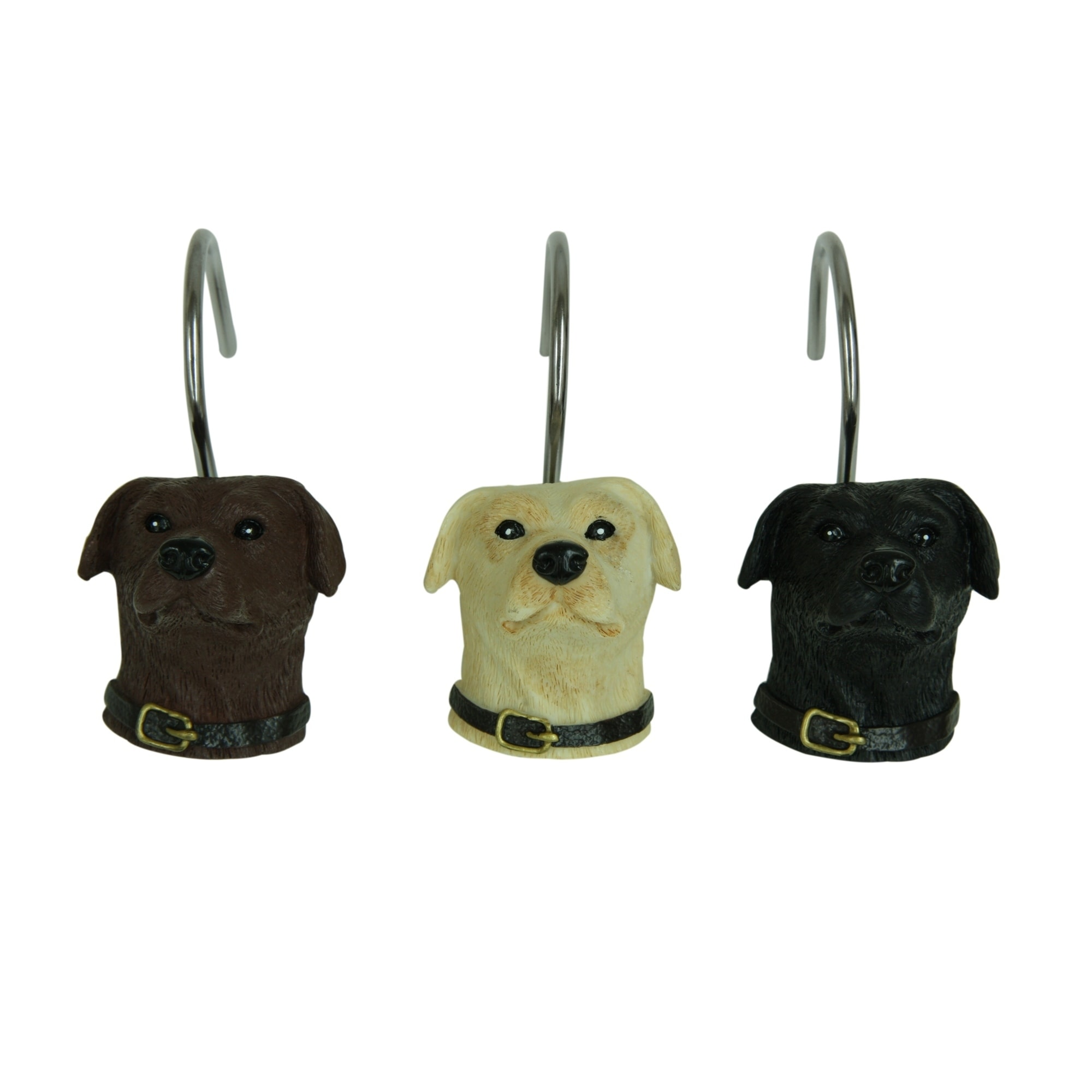 Woodland Dogs Shower Curtain Hooks By Bacova
