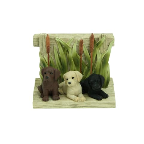 Woodland Dogs toothbrush holder by Bacova - Tan