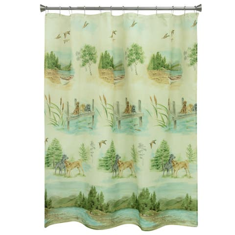 Woodland Dogs shower curtain by Bacova