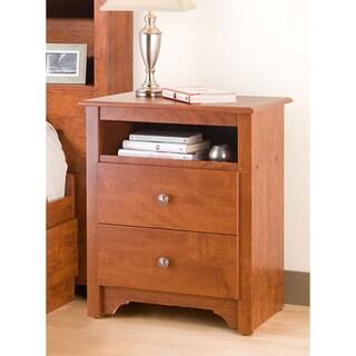Chelsea Cherry 2-drawer & Open Cubbie Nightstand