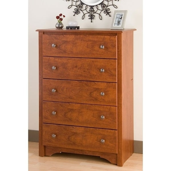 Copper Grove Periyar Cherry 5-drawer Chest