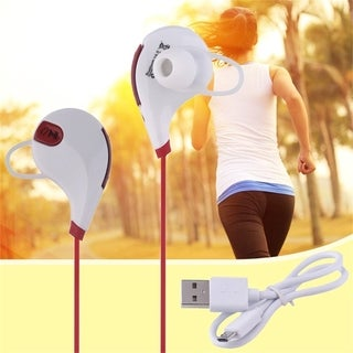 QY7 Bluetooth headset white and red