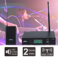 Redi RWM60U Professional UHF Headphone   Guitar Wireless Microphone