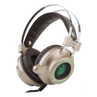 Metal Free Dynamic Comfortable Gaming Headset V2 Gold