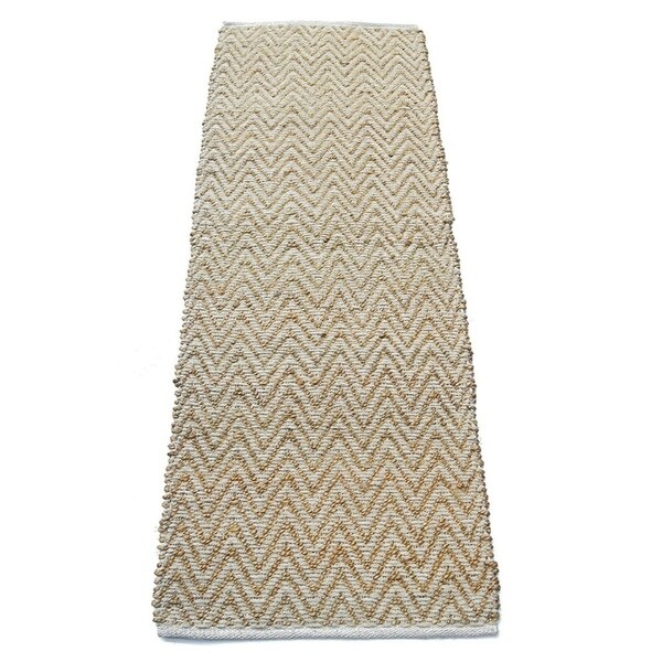 Chevron Knot Rug Ivory: Shop Chevron Patterned Jute And Cotton Chenille Rug, Ivory