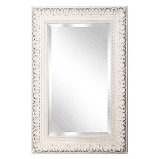 "Rayne Mirrors French Victorian White Rectangular Wall Mirror - 23.5""x 35.5"""