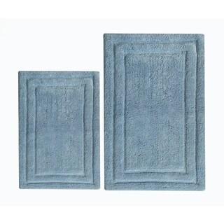 Classic 2 Piece Cotton Bath Rug Set, Powder Blue - 2' x 3'