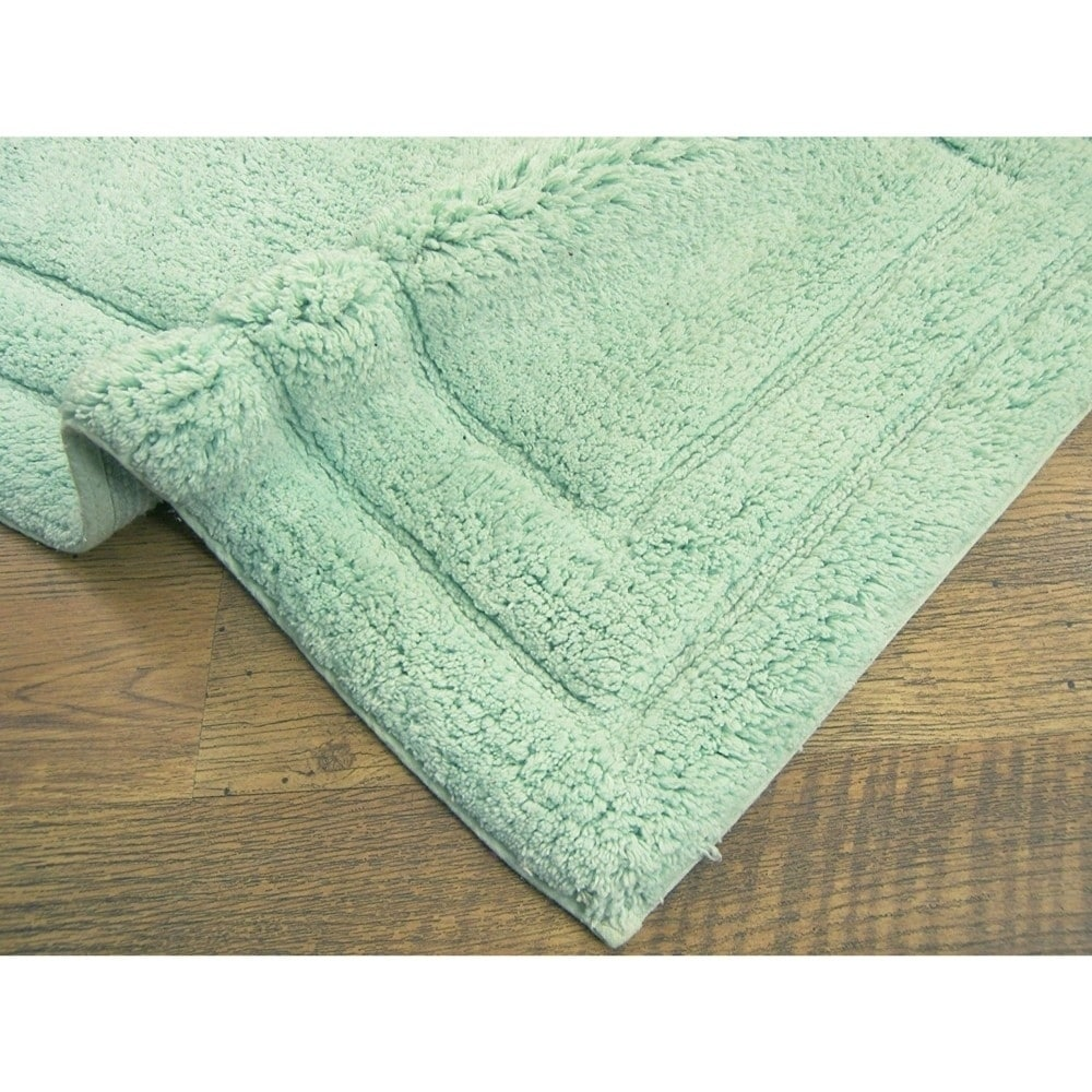 Rectangular Shape Clic 2 Piece Cotton Bath Rug Set Mint Green 1 5 X