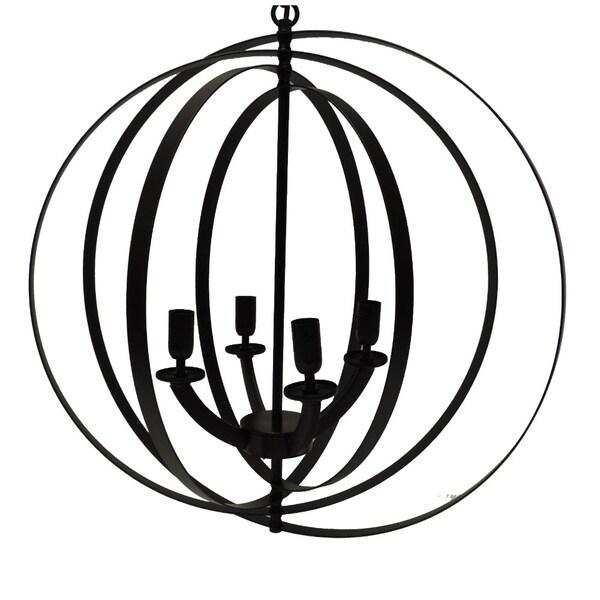 Shop 4 Light Modern Sphereorb Chandelier With Interlocking Rings