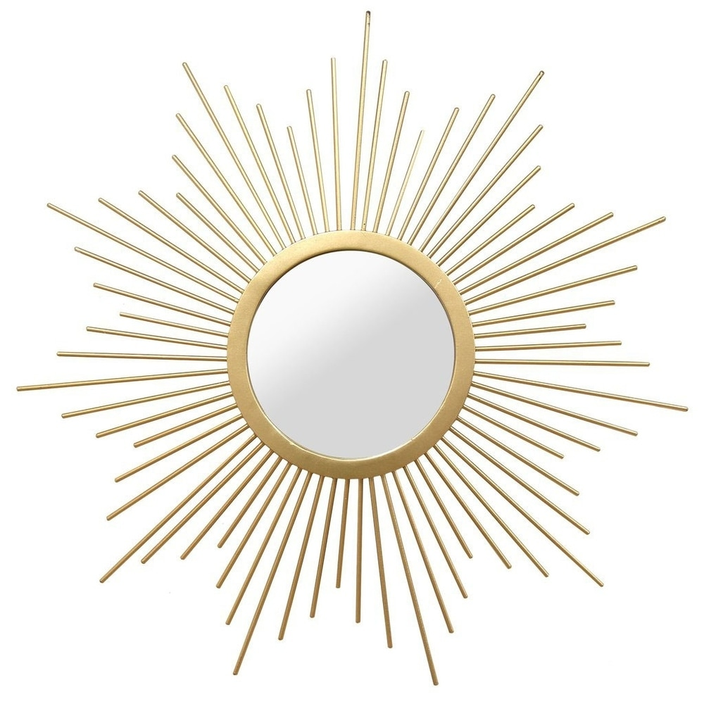 Stratton Home Decor Hand Crafted Metal Bella Wall Mirror Gold From Overstock Com Ibt Shop