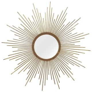 Stratton Home Decor Hand Crafted Metal Andrea Wall Mirror - Gold