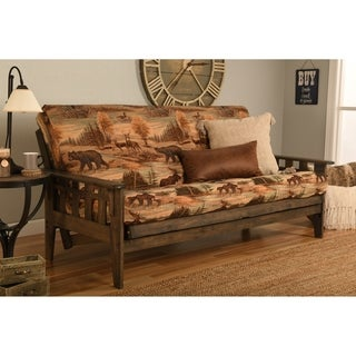 Somette Tucson Full Size Futon Set in Rustic Walnut Finish