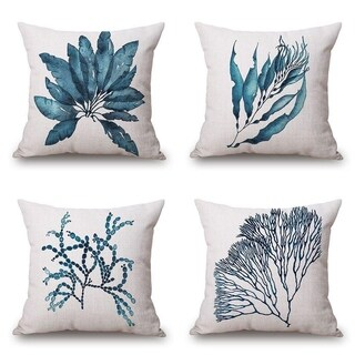 Watercolour Pattern Sofa Throw Pillow Case