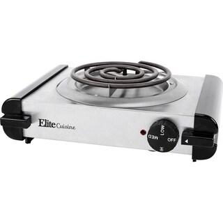 Elite Cuisine ESB-301SS Stainless Steel Electric Burner