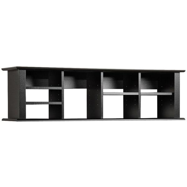 broadway black wall mounted desk hutch