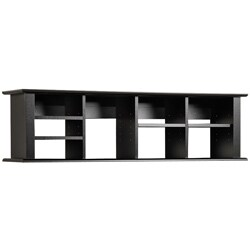 Prepac Broadway Black Wood Wall-mounted Desk Hutch
