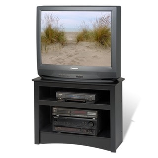 Broadway Black Corner TV Stand
