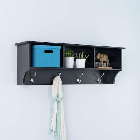 "Broadway Black Entryway Cubbie Shelf - 48"" wide"