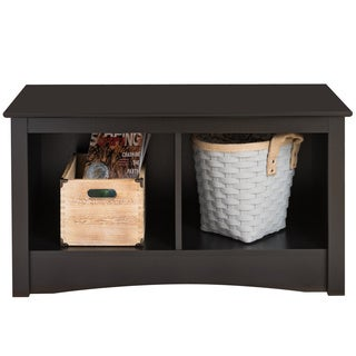 Broadway Black Twin Cubbie Storage Bench