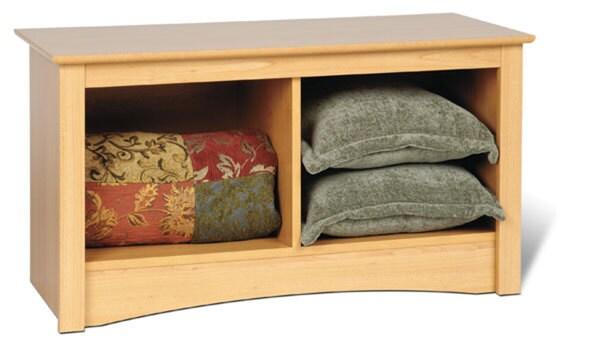 Montego Maple Twin Cubbie Bench