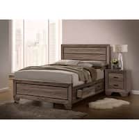 Kauffman Transitional Washed Taupe Bed