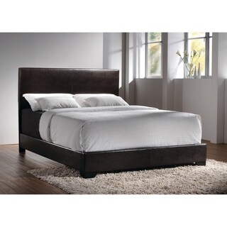 Porch & Den Manes Wood and Faux Leather Casual Upholstered Bed