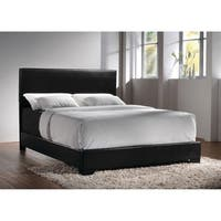 Clay Alder Home Manes Wood and Faux Leather Casual Upholstered Bed