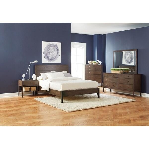Roma Walnut Contemporary Bed: Shop Carson Carrington Setermoen Mid-century Modern Brown