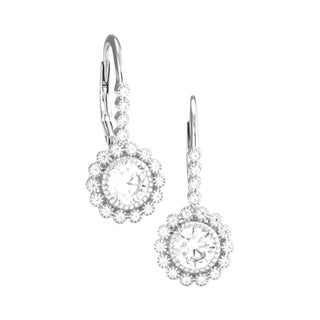 """Retro Filagre Flower"" Earrings in sterling silver with 1.00 ct cz"