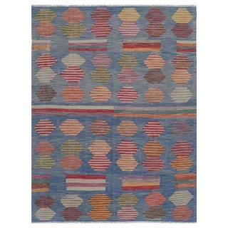 Handmade One-of-a-Kind Wool Kilim (Afghanistan) - 6'1 x 8'