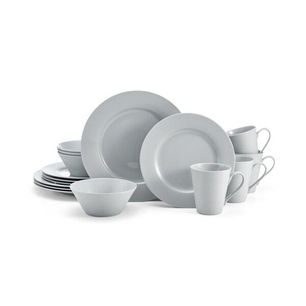 Mikasa Delray Grey Bone China 16-Piece Dinnerware Set (Service for 4). Opens flyout.