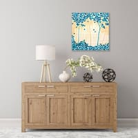 ArtWall Turquoise Forest I Wood Pallet Art