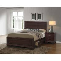 Fenbrook Transitional Dark Cocoa Wood Bed