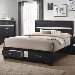 Miranda Contemporary Black Bed