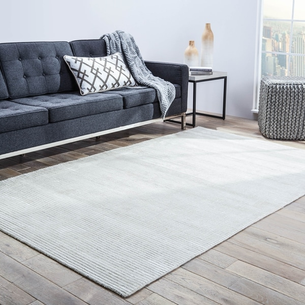 Phase Handmade Solid White Area Rug - 12' x 15'