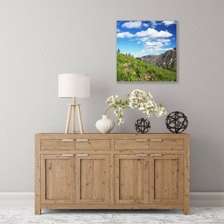 ArtWall Mountain Meadow Wood Pallet Art