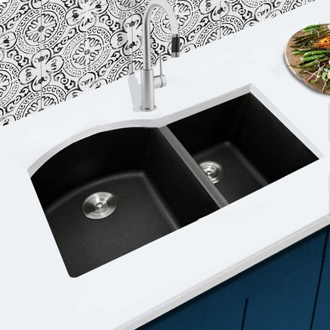 Highpoint Collection 60/40 Undermount Granite Composite Sink