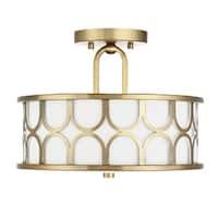 Strick & Bolton Krall 2-light Semi-flush Mount Ceiling Light