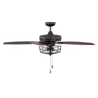 William 52-inch Ceiling Fan with Light in Oil Rubbed Bronze