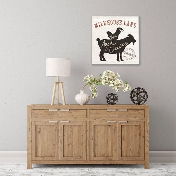 ArtWall Farm Linen Goat Black Wood Pallet Art