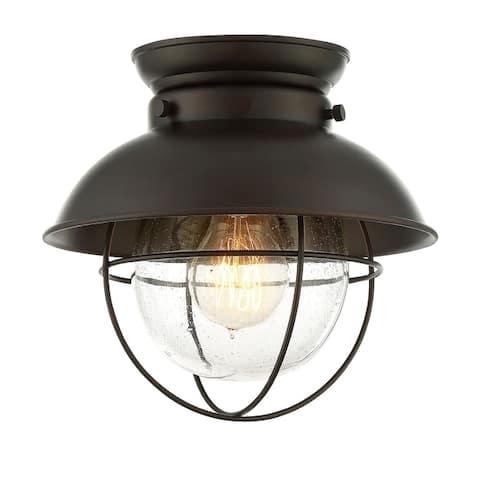 Carbon Loft Melville 1-light Flush Mount Ceiling Light with Oil Rubbed Bronze