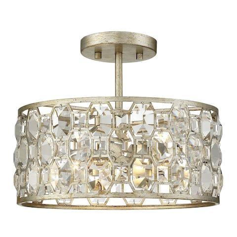 Silver Orchid Finlayson 2-light Semi-flush Mount Ceiling Light