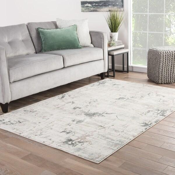 Shop Venture Abstract Beige Gray Area Rug 12 X 15