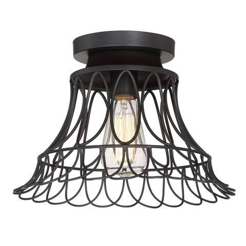 Carbon Loft McKinnon 1-light Flush Mount Ceiling Light with Oil Rubbed Bronze
