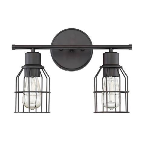 Carbon Loft Guillotin 2-light Industrial Bath Bar