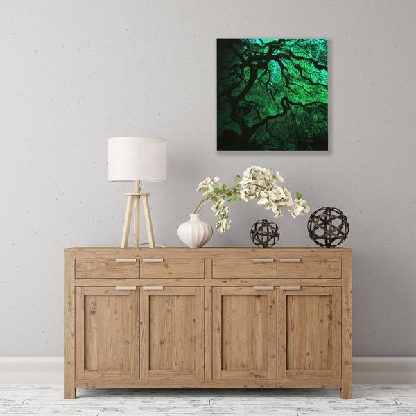 ArtWall Japanese Dark Tree Wood Pallet Art