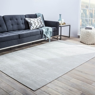 Phase Handmade Solid Light Gray Area Rug - 12' x 15'