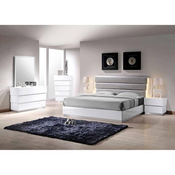 Shop Best Master Furniture 5 Pcs White/ Silver Lacquer ...